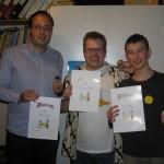 Glade quizvindere: Johannes, AC og Niels Jakob