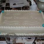 Utrolig fin kage som mødeværterne havde fået fremstillet