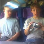 Thomas og Søren H I toget