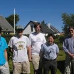 De udenlandske deltagere Robert Klein, Harry Fluks, Stefan Persson, Sigvald Grøsfjeld Jr. (og Hans som har sneget sig med i billedet her, selvom han ikke er udlænding).