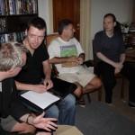 Jesper, Ole, Lars og Niels kæmper med en quiz