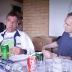 Lars og Niels mindes dengang de lå nede i Biscayen, og kokken kom farende ind